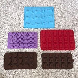 NWT Chocolate Mold Kit Maker 5 Tray animal mermaid